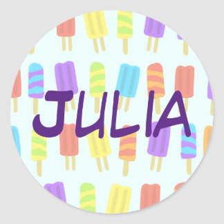 Personalized Sticker with Popsicle Pattern