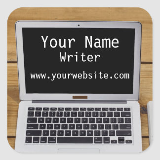 Personalized Stickers Writer Author Laptop
