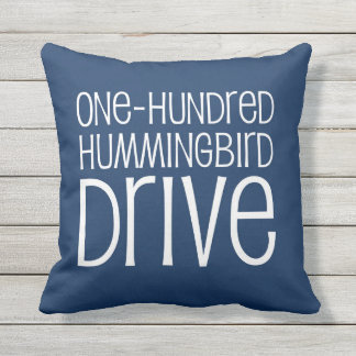Personalized Street Pillow