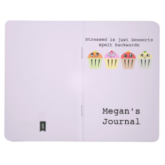 Personalized stressed is just desserts backwards journal