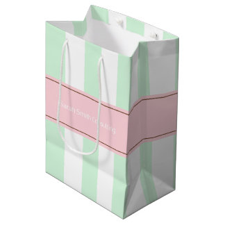 Personalized Striped Client Marketing Gift Bag