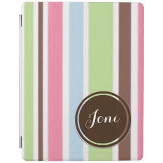 Personalized Striped Smart iPad Cover