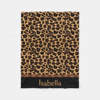 Personalized Stylish Chic Animal Leopard Print Fleece Blanket