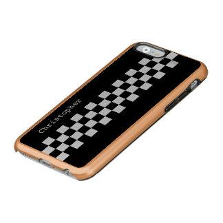 Personalized stylish Racing Checks Incipio Feather® Shine iPhone 6 Case