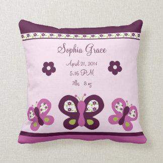 Personalized Sugar Plum Butterfly Keepsake Pillow