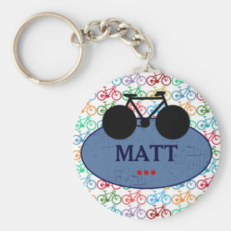 personalized suggestion for cyclists basic round button key ring