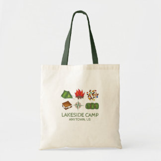 Personalized Summer Camp Camper Camping Tote Bag