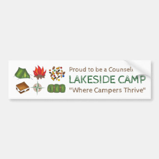 Personalized Summer Camp Counselor Bumper Sticker
