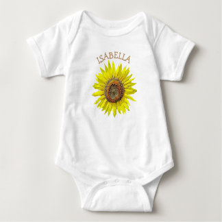 Personalized Sunflower Baby Girl Name Shirt