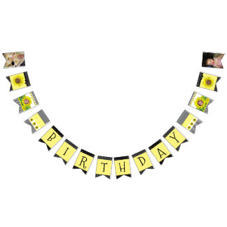 Personalized Sunflower Birthday Party Banner