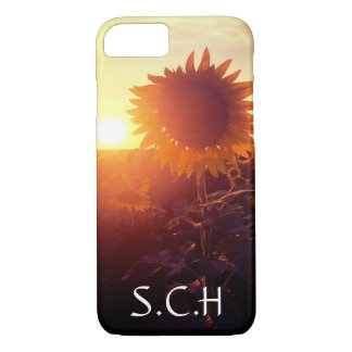 personalized sunflower field case
