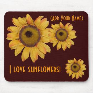 Personalized Sunflower Mouse Pad