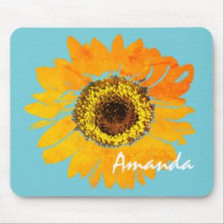 Personalized Sunflower Mousepad
