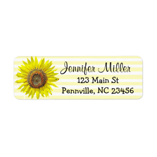 Personalized Sunflower Return Address Labels