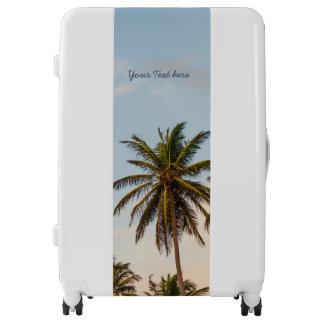 Personalized Sunny Paradise Sunset Palms Vintage Luggage