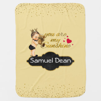 Personalized Sunshine Song | Prince Nursery Throw Buggy Blankets