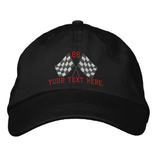 Personalized Supercharged Racing Flags Embroidery Embroidered Hat