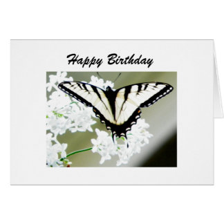 Personalized Swallowtail Butterfly Photo Greeting Card