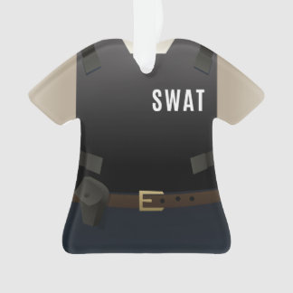 Personalized SWAT Police Team Christmas Ornament