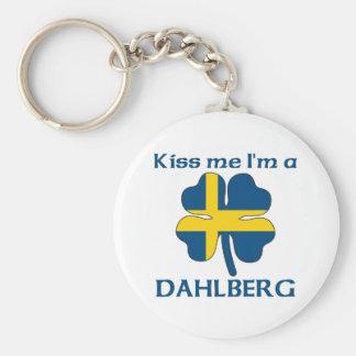 Personalized Swedish Kiss Me I'm Dahlberg Basic Round Button Key Ring