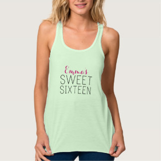 Personalized Sweet 16 Tanks