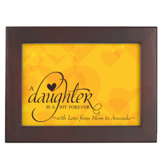 Personalized Sweet Gifts for Daughter Add Photo Keepsake Box