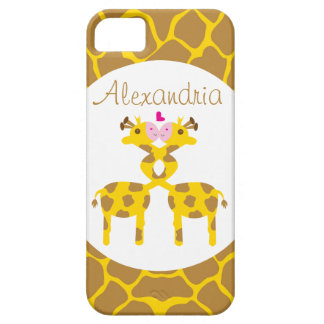Personalized Sweet Giraffes in Love iPhone 5 Covers