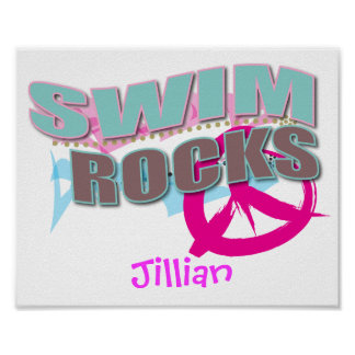 Personalized SWIM Gifts Poster