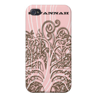 Personalized Swirl Tree Wood Grain iPhone Case iPhone 4 Case