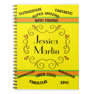 Personalized Synonyms of Awesome Best Friend Notebooks