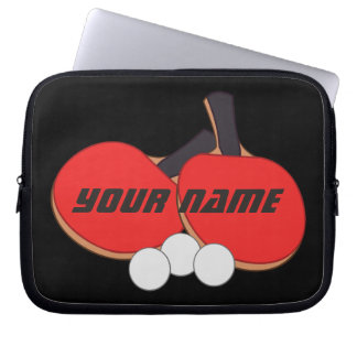 Personalized Table Tennis Ping Pong Laptop Sleeve