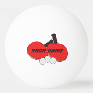 Personalized Table Tennis Red Black Ping Pong Ball