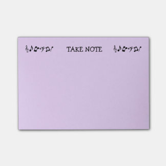 Personalized Take Note Post-It Notes