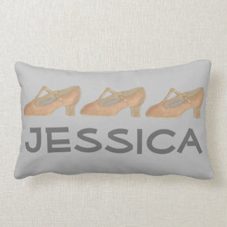 Personalized Tan Character Dance Shoe Pillow