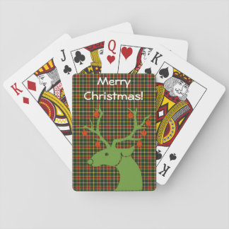 Personalized Tartan Plaid Pattern with Message Playing Cards