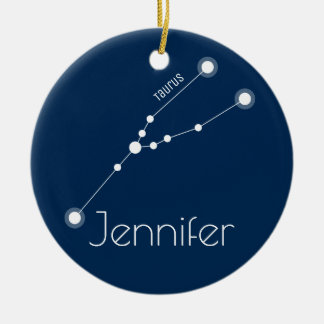 Personalized Taurus Constellation Ornament