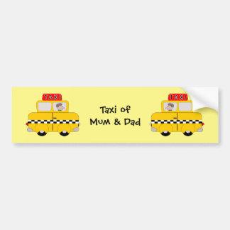 Personalized Taxi Bumper Sticker