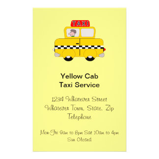 Personalized Taxi Company 14 Cm X 21.5 Cm Flyer