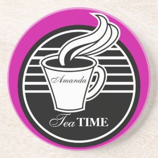 Personalized Tea Cup Drink Coaster