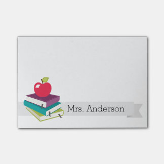 Personalized Teacher Books Apple Post-It Notes Post-it® Notes