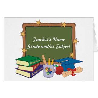 Personalized Teacher Card
