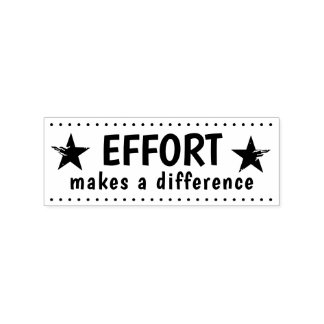 Personalized Teacher Effort Makes A Difference Rubber Stamp
