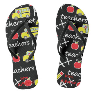 Personalized Teacher  Flip Flops