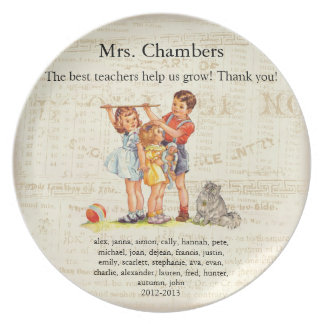 personalized teacher gift party plates