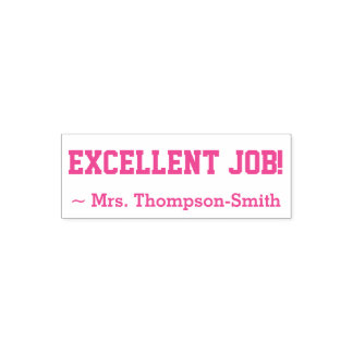 """Personalized Teacher Name + """"EXECLLENT JOB!"""" Self-inking Stamp"""