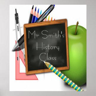 Personalized Teacher s Chalkboard Print