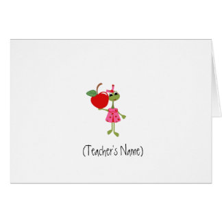 Personalized Teacher Stationery Card