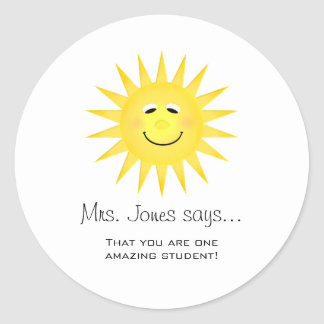 Personalized Teacher Stickers