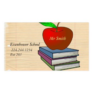 Personalized Teacher's Apple Pack Of Standard Business Cards