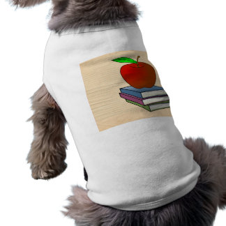 Personalized Teacher's Apple Sleeveless Dog Shirt